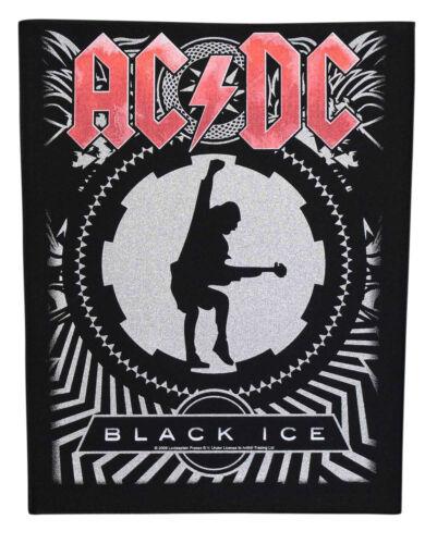Large AC/DC Black Ice Woven Sew On Battle Jacket Back Patch