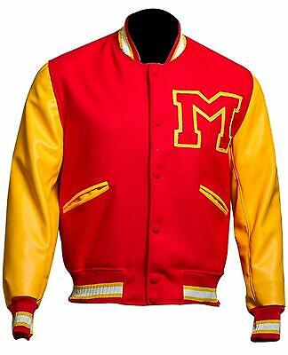 Letterman Jacket Sale ( MJ Thriller Michael Jackson Red M Logo Varsity Letterman Bomber Jacket Men)