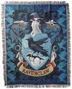Harry Potter Ravenclaw House Crest Logo Woven Tapestry Throw Blanket NEW