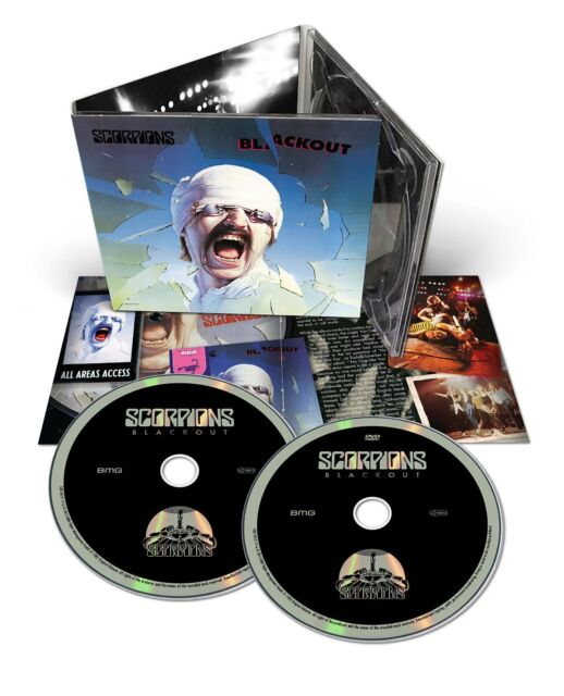 SCORPIONS BLACKOUT CD & DVD ALBUM SET (Released November 6th 2015)