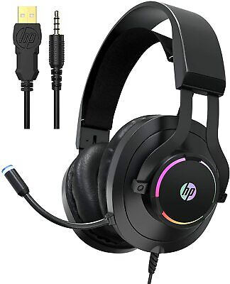 Wired Headset with Mic for Xbox One Controller, PS4, PC, Laptop HP Gaming H360