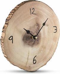 Tree Bark Shaped Wall Clock Home Office Decor