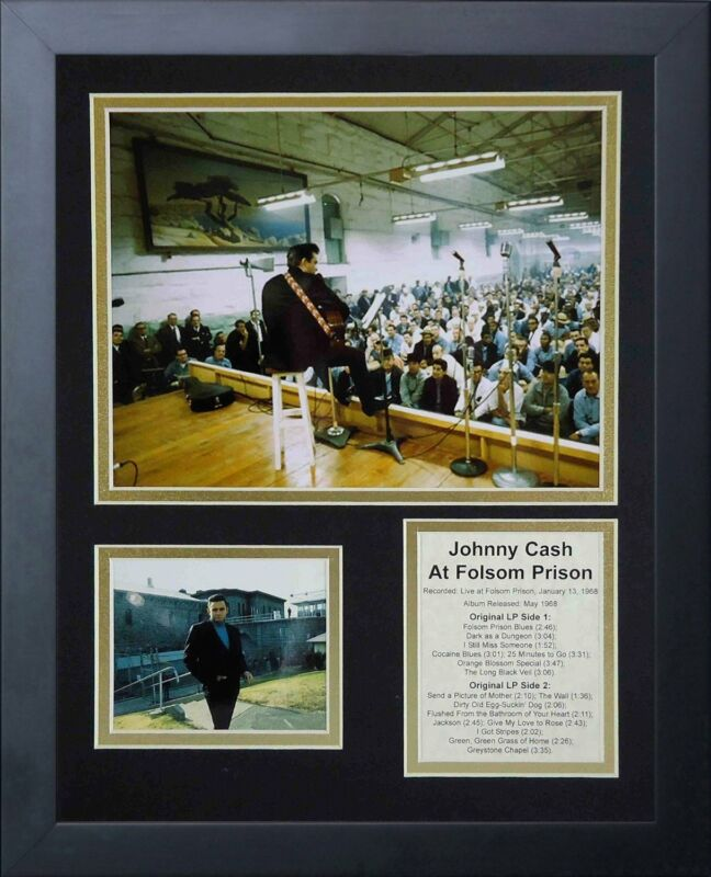 11x14 FRAMED JOHNNY CASH LIVE AT FOLSOM PRISON JANUARY 13 1968 8X10 PHOTO