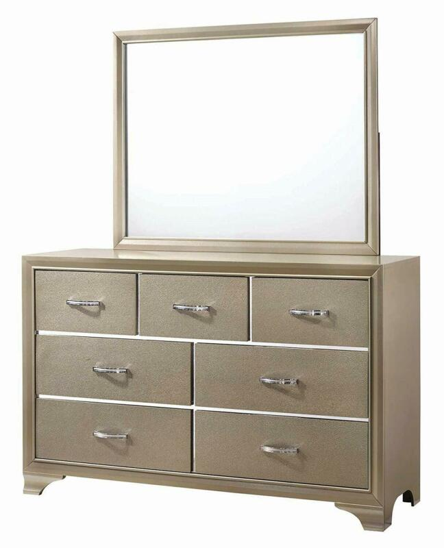Coaster Home Furnishings 205294 Dresser Mirror, Cream/Champa