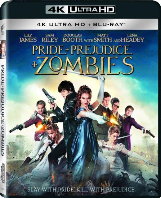 PRIDE + PREJUDICE + ZOMBIES (4K ULTRA HD Atmos)- Blu Ray  Region free