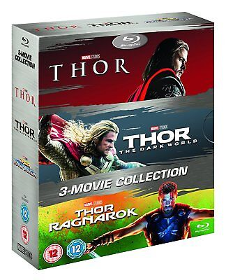 Thor 3 Movie Collection  Blu Ray Box Set  1 3 Complete Trilogy Ragnarok 1 2 3