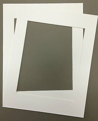 Pack of 2 24x36 White Picture Mats with White Core, for 20x3