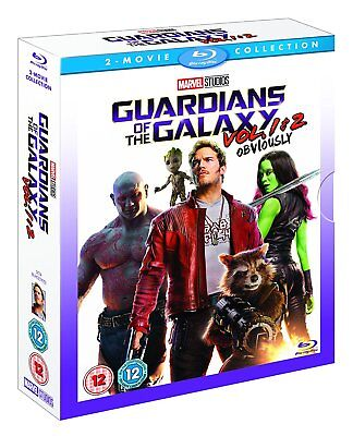 Guardians Of The Galaxy Vol  1 2 Blu Ray Two Movie Collection Set New Free Ship