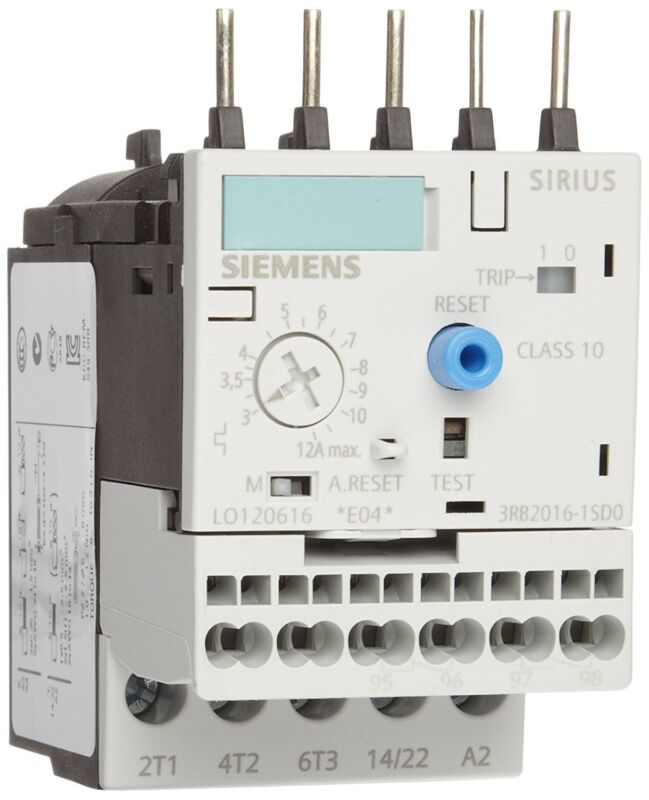 Siemens 3 RB20 16- 1 SD0 Solid State Overload Relay, Class 10, S00 Contactor