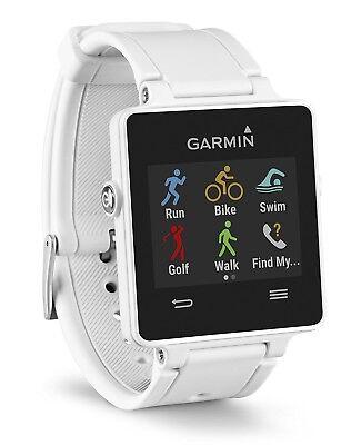 Garmin Vivoactive Smart Watch Activity Monitor Running GPS Gym Phone Wrist White