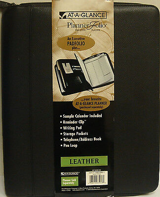 At-a-glance Planner Folio Executive Leather Planner 87-009-05