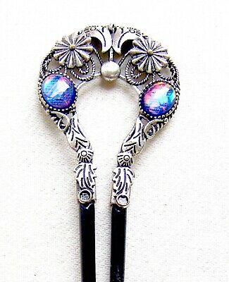Victorian Wigs, Hair Pieces  | Victorian Hair Jewelry Late Victorian hair comb opal glass hair accessory $130.00 AT vintagedancer.com