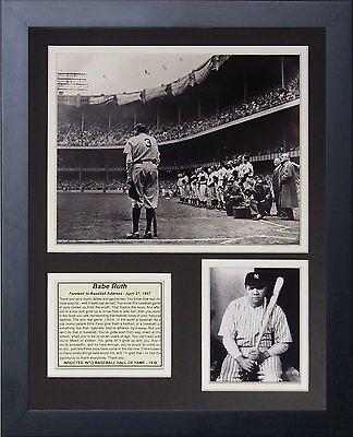 (11x14 FRAMED BABE RUTH 8X10 PHOTO FAREWELL BASEBALL SPEECH 1947 NEW YORK YANKEES)
