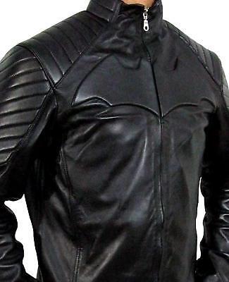 Batman Justice League Black Leather Jacket Costume ](Leather Jacket Costume)