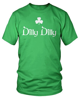 Dilly Dilly Clover Shamrock St  Patricks Day Irish Pride Bud Crown Beer Shirt