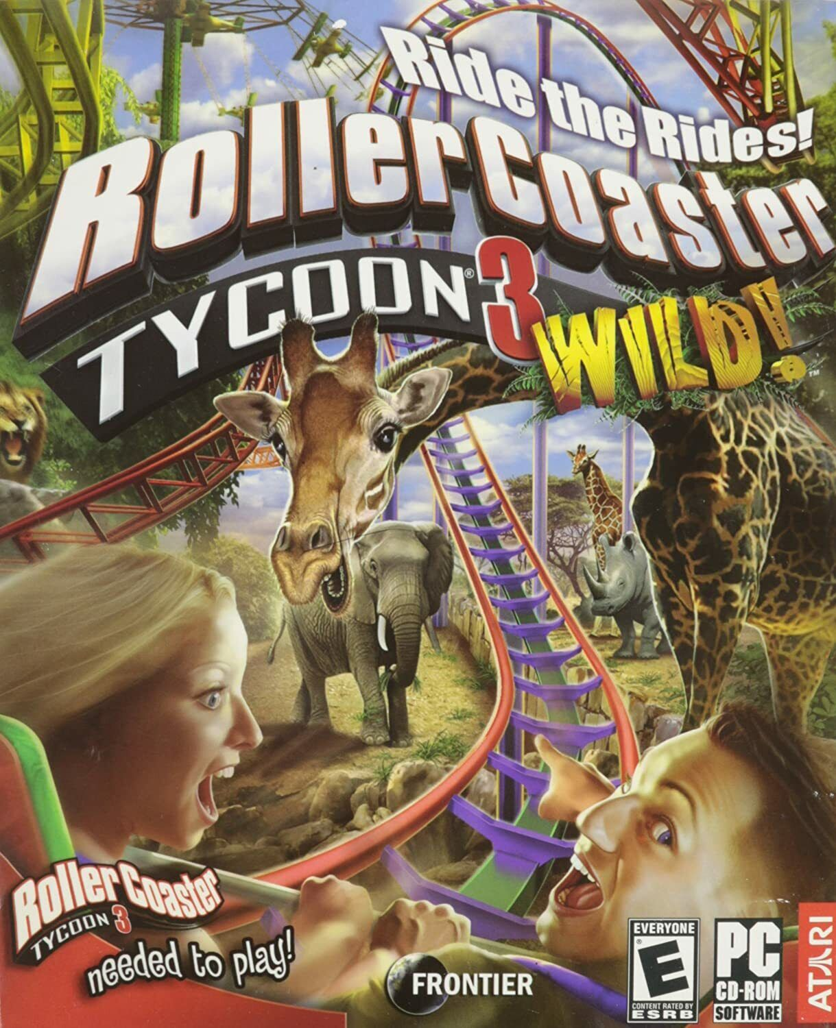 Computer Games - RollerCoaster Tycoon 3: Wild! -- Add-On Expansion Pack Windows PC Computer Game