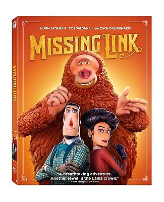 MISSING LINK (BLU-RAY, 2019) LAIKA - BEST ANIMATED PICTURE NOMINEE (Best Animated Blu Ray)