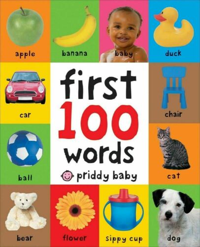 First 100  Words Board Book Learning For Baby Kids Bright Child Toddler Children