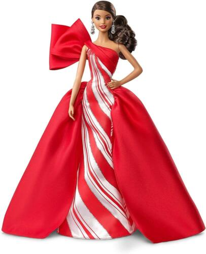 Barbie 2019 Holiday Brunette Teresa Side Ponytail Doll Red/White Gown DEALS - $12.88