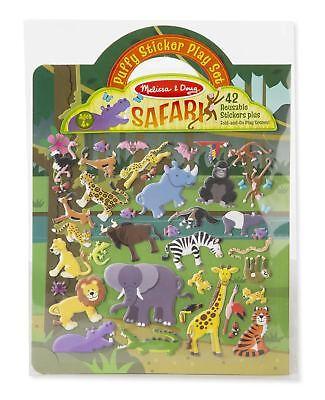 Melissa & Doug Puffy Sticker Play Set: Safari #9106 - 42 Reusable Stickers