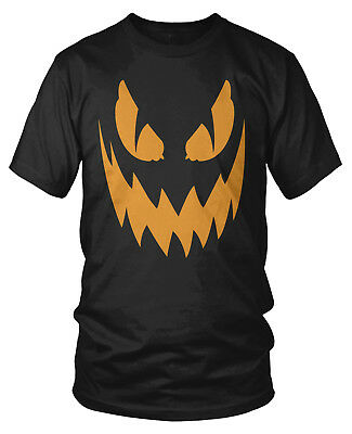 Scary Halloween Pumkins (Scary Jack-o-Lantern Pumkin Face - Halloween Trick or Treat Mens)