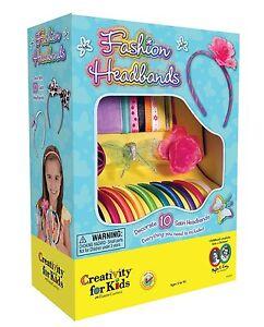 Creativity for Kids Fashion Headbands Kit Girls Arts Crafts GIFT IDEA FREE P&P