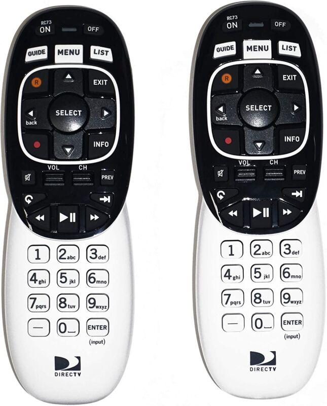 DirecTV RC73 (2 PACK) Genie Remote Controls RF/IR Replaces RC71 RC72 ⭐️
