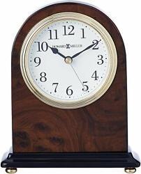 Howard Miller Bedford Table Clock 645-576 – Walnut Finish with Quartz Movement