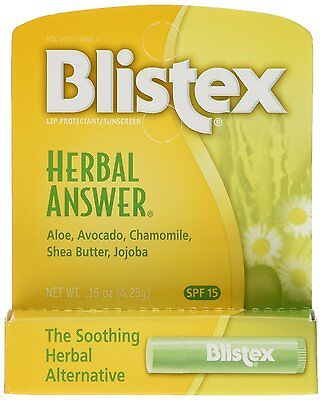 Blistex de Hierbas Respuesta Labios Protector / Filtro Solar, Spf 15 , 4.4ml (