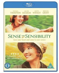 Sense and Sensibility Blu-ray BRAND NEW Emma Thompson Kate Winslet REGION FREE