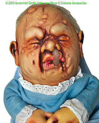 BABY STINKY PUPPET Creepy Realistic Mutant DOLL Halloween Prop Costume Accessory - Baby Doll Costume Halloween