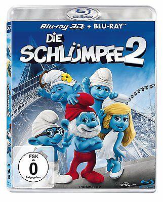3D Blu-ray * DIE SCHLÜMPFE  2 - Der 2. Kino - Film in 3 D # NEU OVP <
