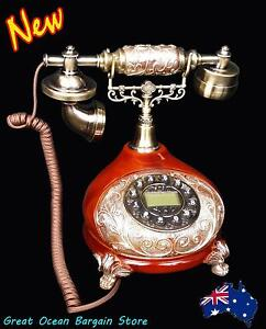 Retro Vintage Antique Style Home Push Button Dial Desk Telephone Chipping Norton Liverpool Area Preview