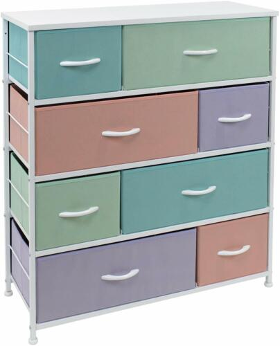 Sorbus Dresser W/ 8 Drawers - Kid Bedroom Furniture Storage Chest - Pastel Color