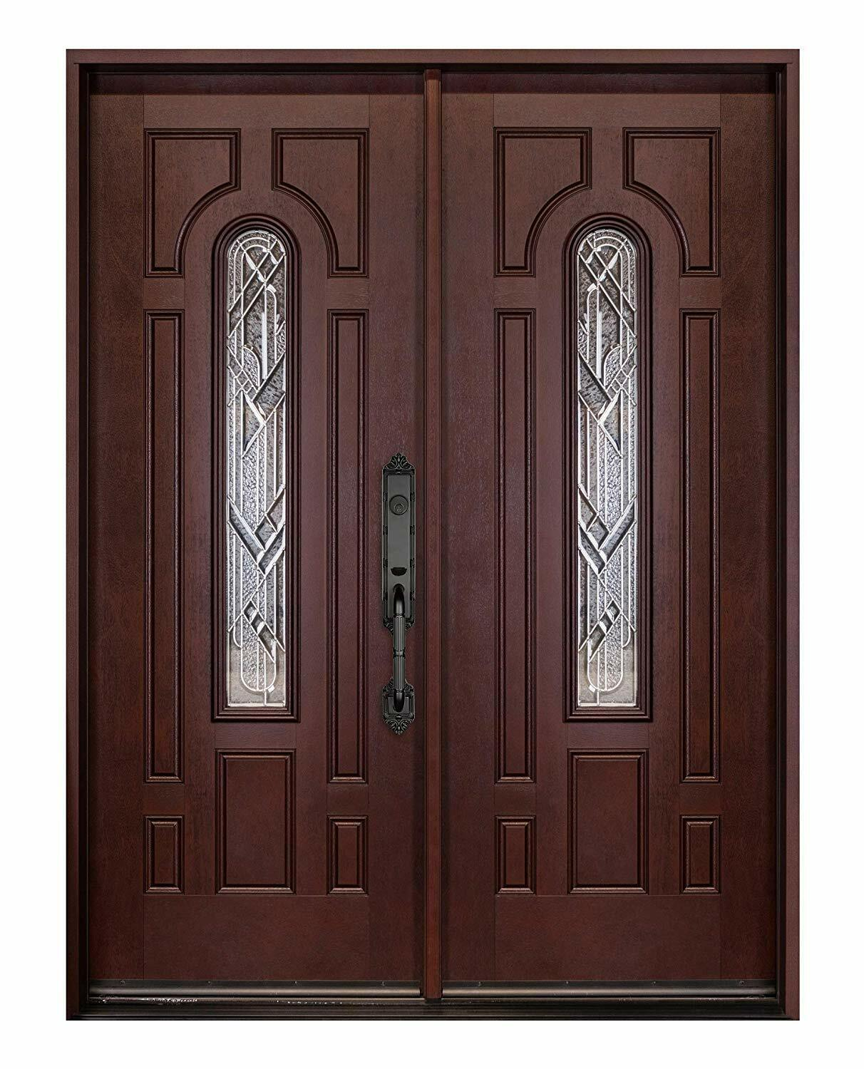 Fiberglass Front Entry Door Double Door