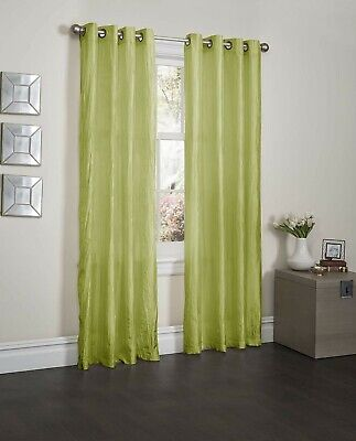 Kashi Home Sherry Collection Window Treatment / Curtain / Crushed Satin Panel wi