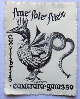 Ex Libris ,sine Sole Silet, Per Calderara - Galasso - Molto Bello - Antim? -  - ebay.it