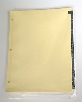 A To Z Index Dividers For 8-12 X 11 Inch 3-ring Binder With Gold Lettering On