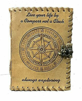 Compass Writing Journal Leather Notebook Classic Compass Travelers Notebook