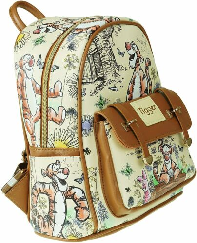 """Deluxe Disney Winnie The Pooh - Tigger 11"""" Faux Leather Mini Backpack - A20766"""