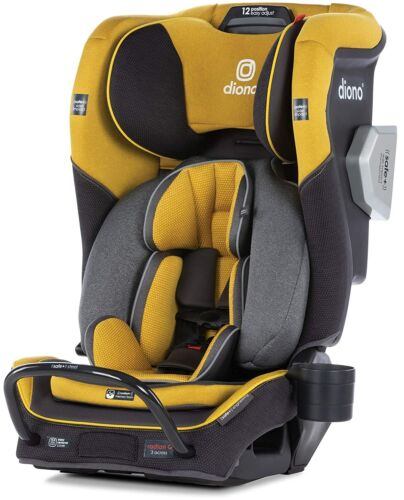 Diono Radian 3QXT All-In-One Booster Child Safety Car Seat Yellow Mineral NEW