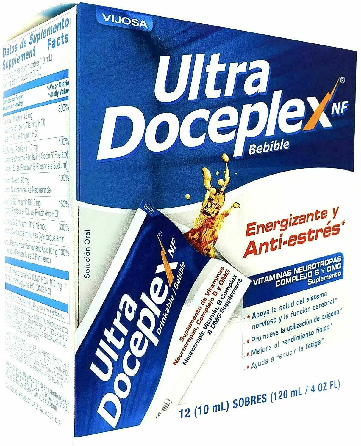 2 Boxes ULTRA DOCEPLEX NF 24 Bags Support ANTIESTRES ENERGY BOOSTER ANTI-STRESS 5