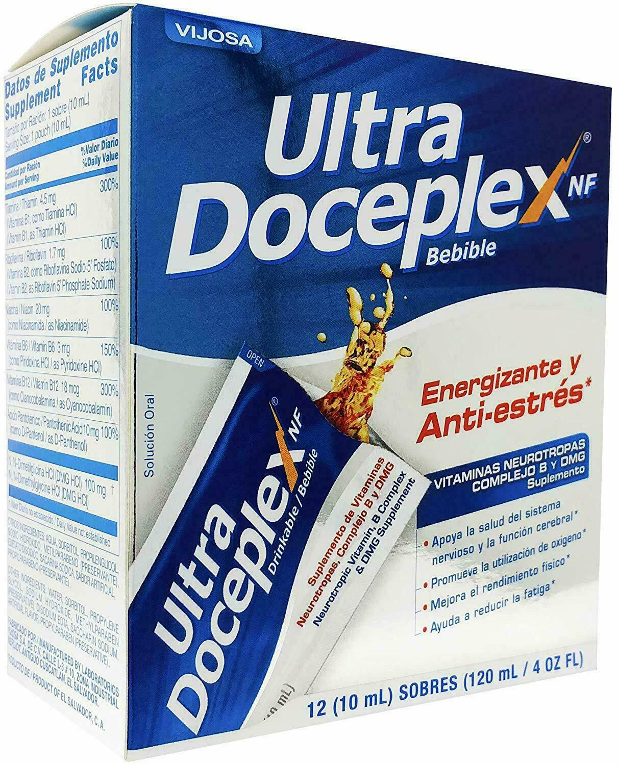 2 Boxes ULTRA DOCEPLEX NF 24 Bags Support ANTIESTRES ENERGY BOOSTER ANTI-STRESS 1