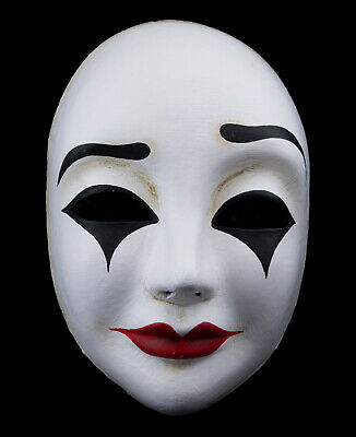 Mask from Venice Volto of Mime Authentic in Paper Mache Fancy 437 V15