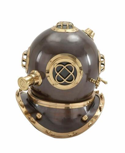 """18"""" US Navy Divers Helmet Maritime Scuba Vintage Replica Mark V Diving Equipment"""