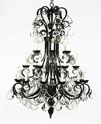 Large Foyer Chandeliers (Large Foyer/Entryway Wrought Iron Chandelier 50
