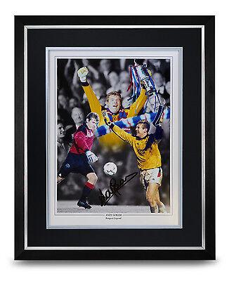 Andy Goram Signed Photo Large Framed Display Rangers Autograph Memorabilia + COA