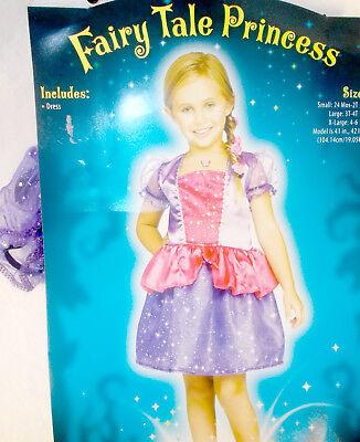 Fun World Purple Pink Fairy Tale Princess Costume Dress Child 24M-2T 3-4 4-6 NIP