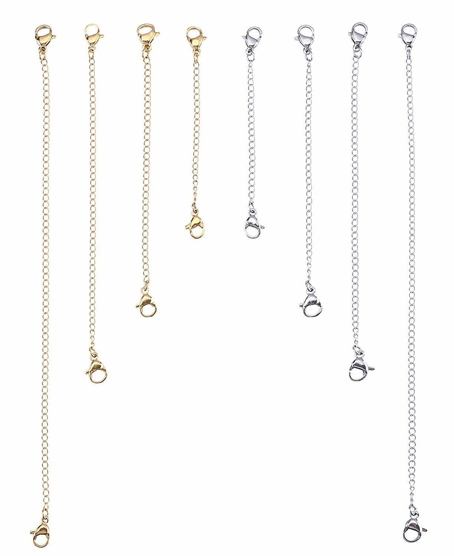 Stainless Steel Necklace Bracelet Extender Chain Set