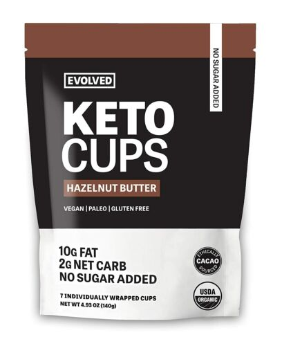 EVOLVED Chocolate Hazelnut Butter Keto Cups, 4.93 OZ